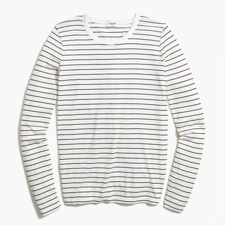 J.Crew Striped long-sleeve athleisure tie-back tee