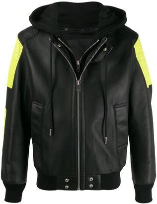 Diesel Layered-Effect Jacket With Neon Details