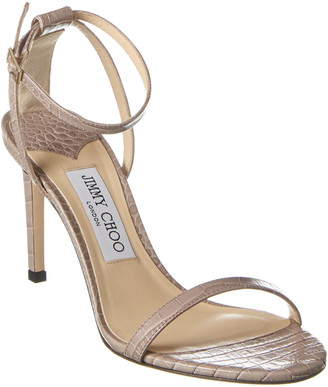 Jimmy Choo Minny 85 Leather Sandal