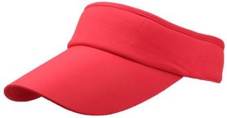 Winkey Women's Empty Top Sunhat Sport Headband Classic Sun Visor Caps Hat (Red)