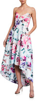 Parker Black Paulina Floral Strapless High-Low Dress