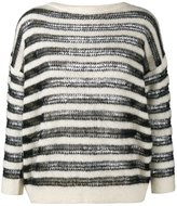 Saint Laurent bateau neck jumper - women - Polyamide/Mohair/Wool - XS
