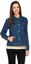 Liz Claiborne New York Denim Button Front Jean Jacket