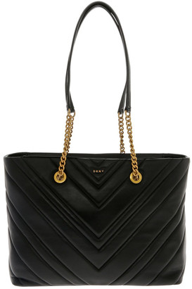 DKNY Vivian Black Double-Handle Tote Bag