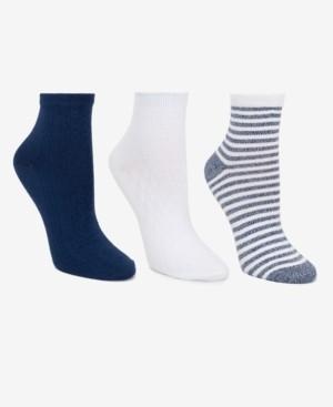 Cuddl Duds Women's 3-Pk. Pointelle Anklet Socks