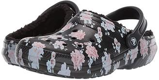Crocs Classic Printed Lined Clog (Floral/Black) Shoes