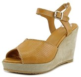 A.P.C. F50017 Open Toe Leather Wedge Heel.