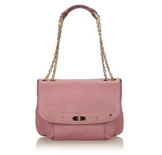 MCM Purple Leather Chain Shoulder Bag