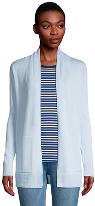 Lands' End Petite Open-Front Long Cardigan Sweater