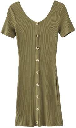 Goodnight Macaroon 'Kimia' Buttoned down Short Sleeves Dress (5 Colors)