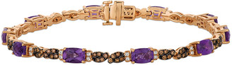 LeVian Le Vian Royal Blues 14K Rose Gold 5.48 Ct. Tw. Diamond & Amethyst Bracelet