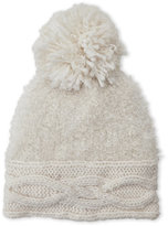 Cejon Sparkle Knit Beanie With Pom Pom