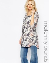 Mama Licious Mama.licious Mamalicious Lia Maternity Tunic in Floral Print