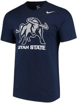 Nike Men's Navy Utah State Aggies Big Logo T-Shirt