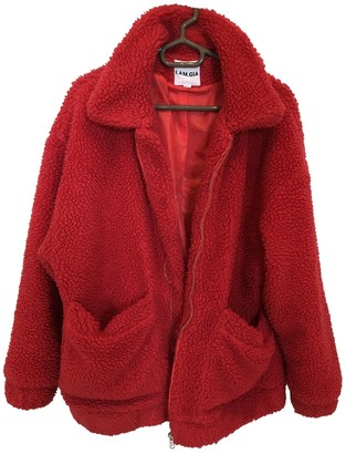 I.AM.GIA Red Synthetic Coats
