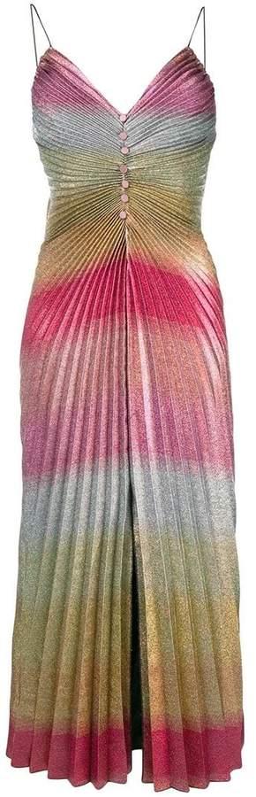 Marco De Vincenzo gradient effect pleated dress