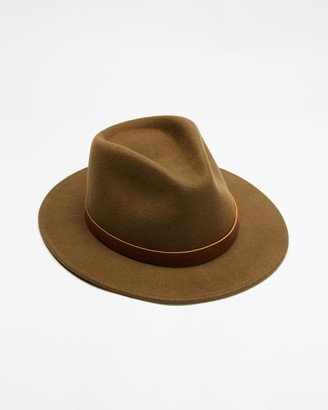 Brixton Green Hats - Fender Refugee Fedora - Size M at The Iconic