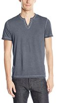 Kenneth Cole Reaction Men's Ss Washed Eyelet Henley