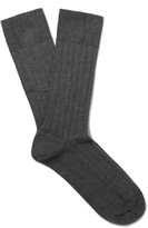 John Smedley - Pontus Ribbed Sea Island Cotton-blend Socks