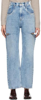 Maison Margiela Blue Slit Jeans