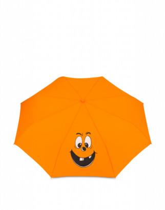 Moschino Pumpkin Face Openclose Umbrella Woman Orange Size Single Size