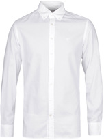 Hackett Brompton White Dyed Slim Fit Oxford Shirt