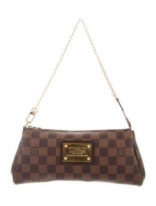 Louis Vuitton Damier Ebene Pochette Eva w/ Shoulder Strap Brown