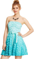 As U Wish Juniors' Strapless Lace Ombre Dress