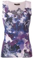 Roberto Cavalli floral print tank top - women - Silk/Cashmere/Wool - 40