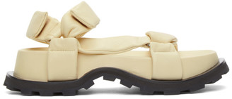 Jil Sander Off-White Leather Chunky Sole Sandals