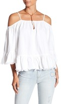 Blank NYC BLANKNYC Group Hug Cold Shoulder Blouse