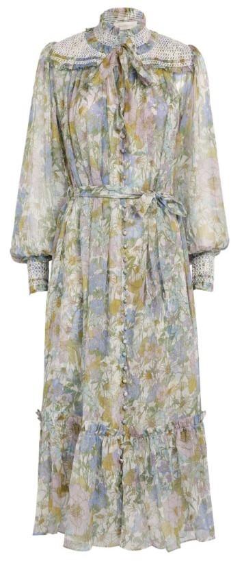 Zimmermann Super Eight Floral Midi Dress