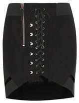 Anthony Vaccarello Lace-up Miniskirt