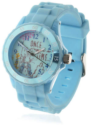 Beatrix Potter Children Peter Rabbit Time Teacher Light Blue Silicone Strap Watch