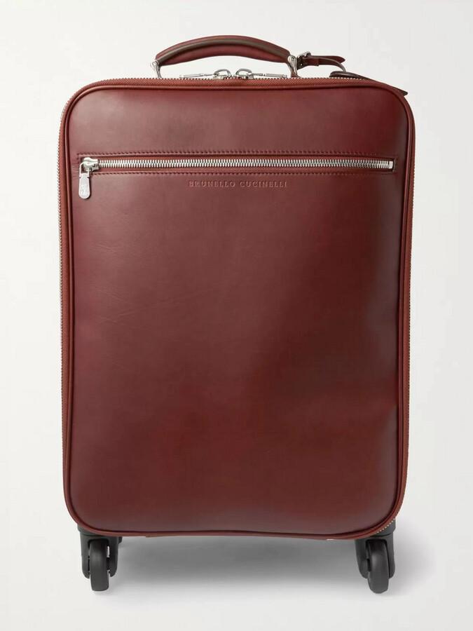 Brunello Cucinelli Leather Carry-On Suitcase