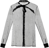 Saint Laurent Polka-dot tulle blouse