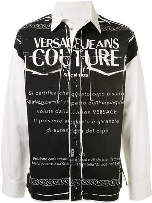 Versace Long Sleeve Logo Print Shirt