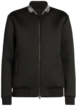 Fendi Tape Collar Bomber Jacket