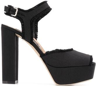 Sergio Rossi Fringed Platform Sandals