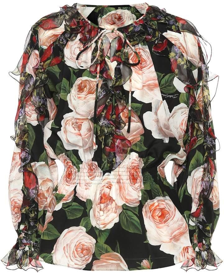 f2fedf0cba0955 Dolce And Gabbana Silk Blouse - ShopStyle