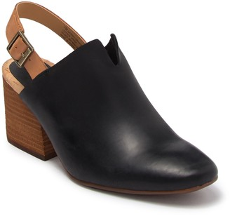 KORKS Rayleigh Block Heel Leather Mule
