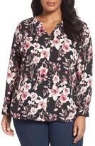 Sejour Plus Size Women's Button Detail Blouse