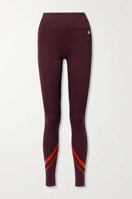 Tory Sport - Weightless Printed Stretch Leggings - Burgundy