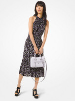 Michael Kors Floral Textured Jersey Dress