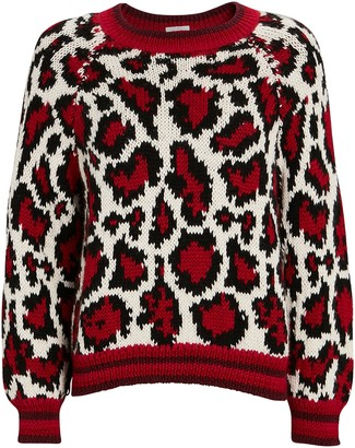 Mother The Boat Square Leopard Sweater