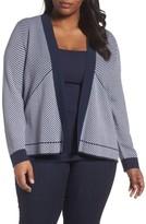 Foxcroft Plus Size Women's Daphne Stripe Knit Jacquard Jacket