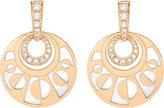 Bvlgari Intarsio mediterranean eden 18ct pink-gold pearl and diamond earring