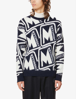 Moncler Logo-embroidered wool jumper