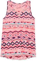 Arizona Lace Inset Tank Top - Girls 7-16 and Plus