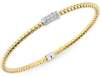 Bagutta Via 18K Gold & Diamond Coiled Bangle Bracelet